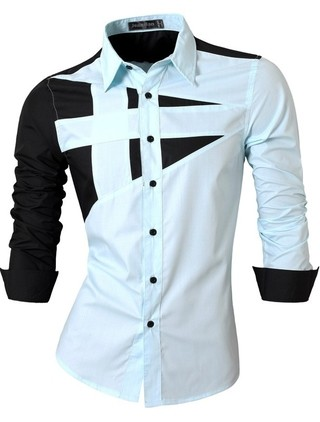 Casual Slim Fit Shirt with Chest Designs - in 6 Colors - buy online