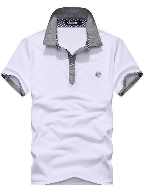 Camiseta Polo Juvenil - Detalles en Contraste Grises - en Verde ... f780cc37d1d50
