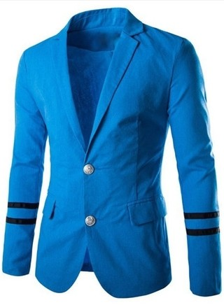 Blazer Fashion Collection Fall / Winter Two Buttons - Naval Details - in Blue, White and Black