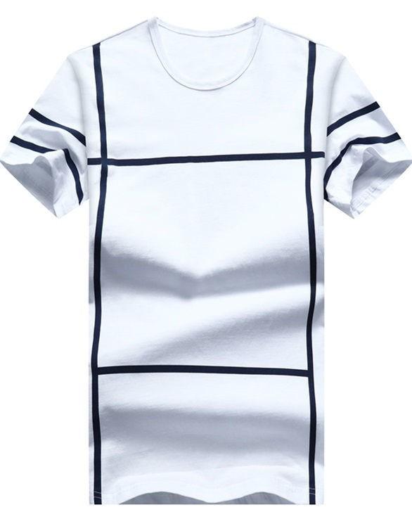 e5a695e39d92c Camiseta Juvenil Fashion - Diseño Moderno a Cuadros - en 5 Colores