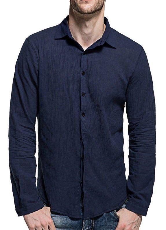 87c5f24b1b ... Imagen de Camisa Casual Fresca para Verano en Lino - Colores Claros -  en 7 Colores ...
