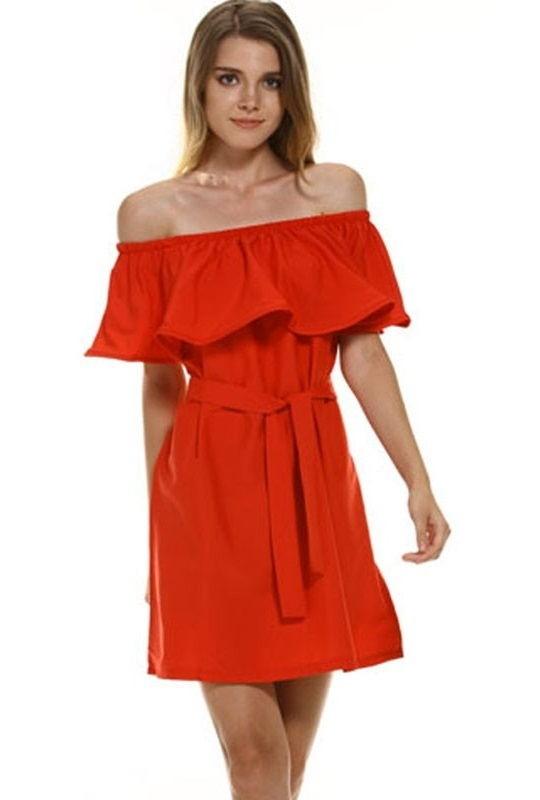 b78b74a59d Vestido Strapless Primaveral Estilo Romance - en 5 Colores