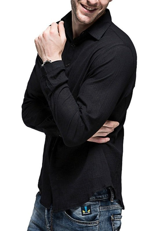 e6bace6438 ... Camisa Casual Fresca para Verano en Lino - Colores Claros - en 7 Colores  - Camisas ...