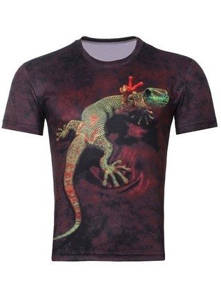 Camiseta Juvenil con Estampado en 3D Fashion - Lizard