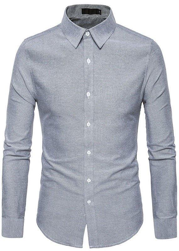 a68ef7c535 Camisa Juvenil de Estilo Europeo - Cuello Americano - en 4 Colores