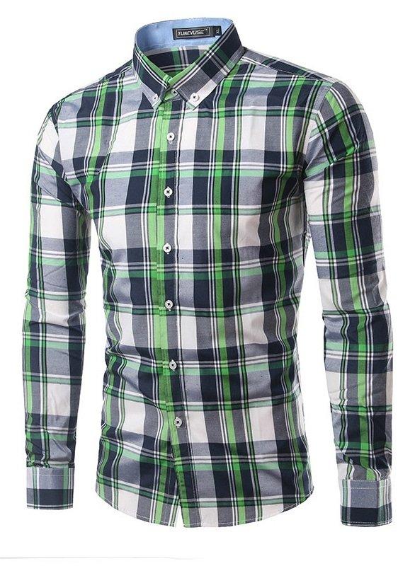 Camisa a cuadros juvenil fashion cuello de estilo - Cuadros estilo moderno ...