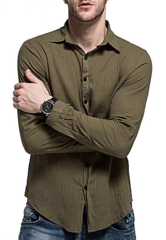 de031ab295 ... Camisa Casual Fresca para Verano en Lino - Colores Claros - en 7 Colores  en internet ...