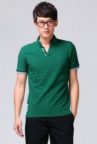 Men Shirt Fashion / Detail in Collar /  Short Sleeve - in 5 Colors