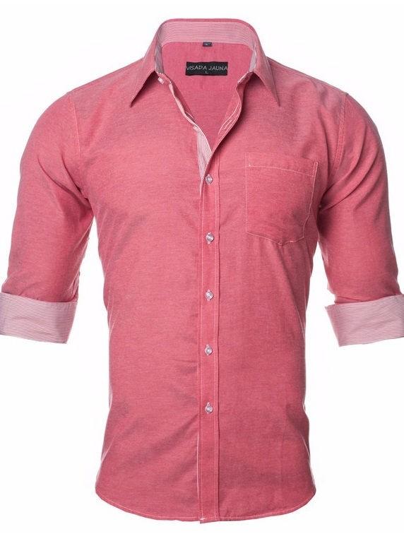 5418c46b9 ... Camisa Delicada Sport Chic con Detalles a Rayas - Colores Claros - en 5  Colores ...