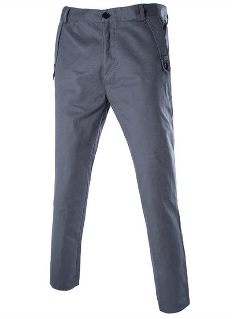 Pantalon Slim Fit Moderno Fashion - Gris