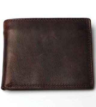 Billetera Masculina en Cuero Casual - Vintage - con Monedero