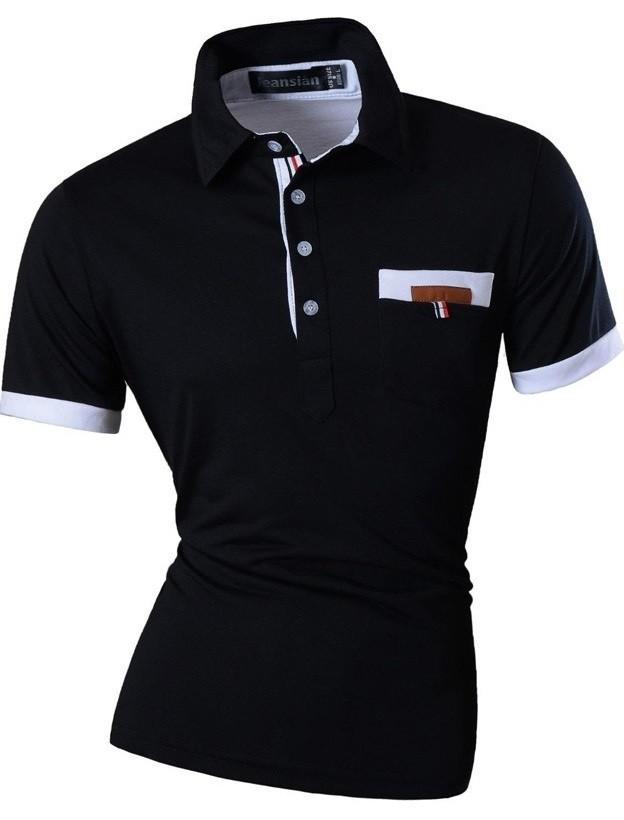 d3dbec33724 Camisa Polo Tendencia Verano - Bolsillo Moderno - en 4 Colores - Camisas de  Hombre: ...