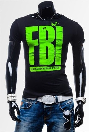 Camiseta Slim FIt Fashion - Diseño F.B.I. - en 7 Colores - comprar online
