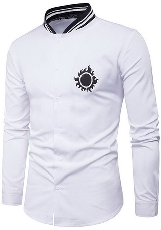 Fashion New Style Youth Shirt - Mandarin Neck - in White and Black