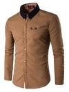 Modern Youth and Elegant Shirt in Solid Colors - Metallic Details in Neck - in 7 Colors on internet