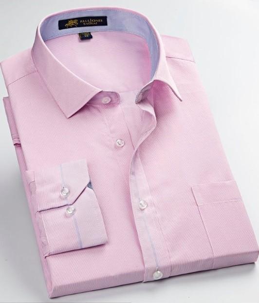c0ea745d6 Camisa de Vestir Rayas Finas - Cuello Italiano - en Azul y Rosado - comprar  online ...