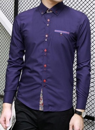 Camisa Casual Fashion - Botones Multicolor - en 5 Colores