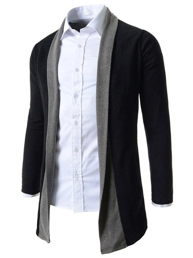 nuevo concepto 1bcad 28289 Cardigan Largo Fashion Suelto sin Botones - Negro