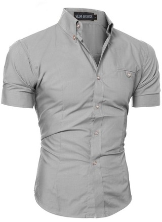 Short Sleeve Fitted Shirt - Style Elegante - in 8 Colors