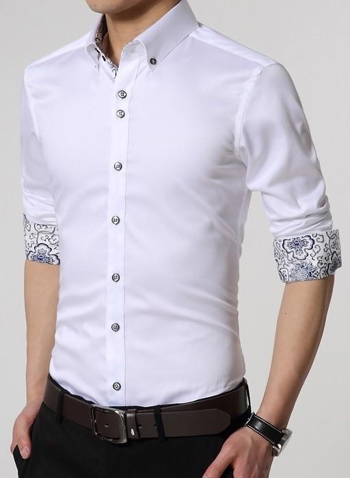 4a071a085 ... Camisa de Vestir Elegante y Moderna - Detalles Florales - en 6 Colores  - Camisas de ...