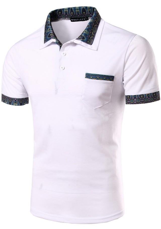 82e9fb03fa8d1 Camisa Polo Fashion con Detalles - Estilo Elegante - en Blanco ...