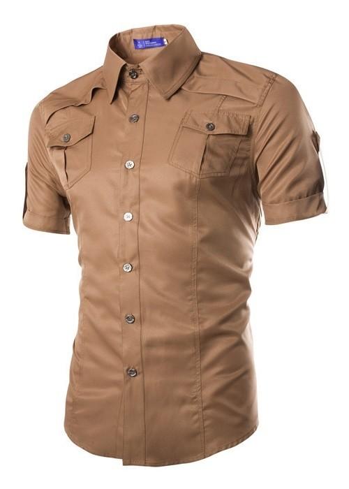 e4d193768 ... Camisa Manga Corta Fashion de Diseño Elegante con Detalles - en 5  Colores - Camisas de ...