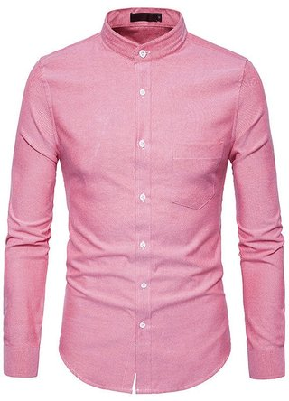 European Style Juvenile Shirt - Mandarin Neck - in 4 Colors