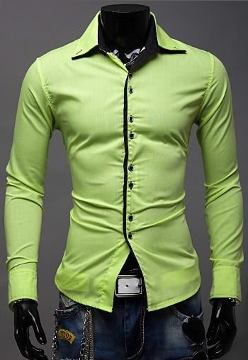 4d9951ec10 Camisa Sólida Fashion en Colores Jovenes y Modernos - Doble Botón - en 10  Colores ...