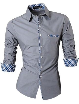 Shirt Casual/Social Fashion - Details Checkered Elegant - in 6 Colors