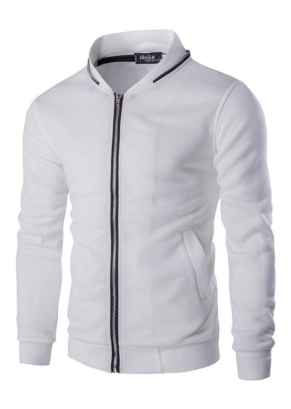 595b4f93d8796 Chaqueta Juvenil Sport - Detalles Fashion - en Blanco y Negro