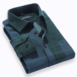 Fashion checkered Shirt in Pana - Modern Colors - Green / White