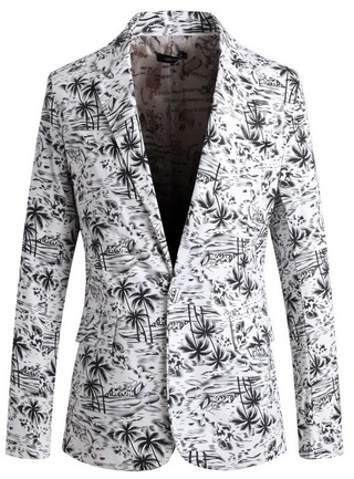 Modern Floral Blazer for Summer - in Black, Blue and Brown