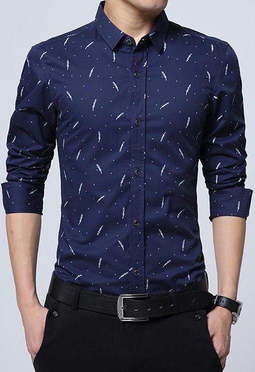 c4b90e129 ... Camisa Elegante Joven con Botones Modernos - Feather Design - en 5  Colores - Camisas de ...