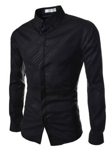 Camisa Elegante Slim Fit Night Shine a Rayas - en 5 Colores en internet