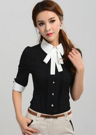 Camisa Fashion Manga 3/4 - Detalle Frontal Elegante - en 4 Colores