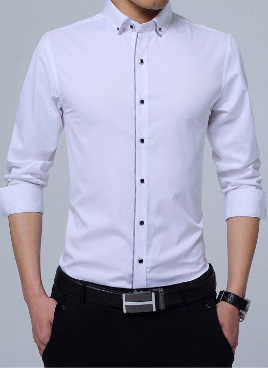 a2fab6613 ... Camisa de Vestir Elegante Detalles a Cuadros - Botones Modernos - en 6  Colores - Camisas ...