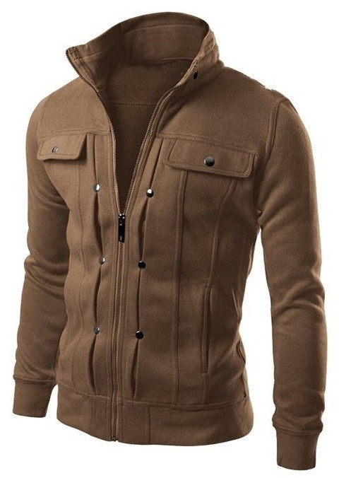 Chaqueta Casual Sport - Diseño Fashion - Cafe
