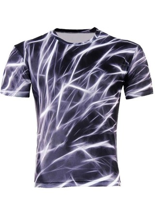 Camiseta Juvenil con Estampado en 3D Fashion - Electricity