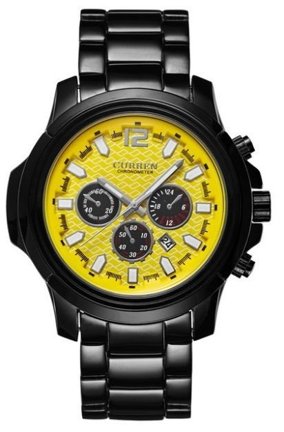 Reloj Fashion Sport Curren 8059 Negro de Tungsteno - Army Style - en 4 Colores