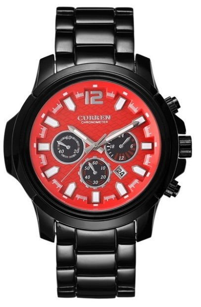 Reloj Fashion Sport Curren 8059 Negro de Tungsteno - Army Style - en 4 Colores en internet