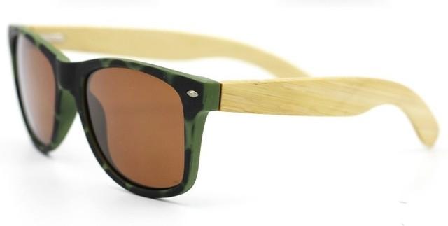3c35247ed1 Gafas de Sol Vintage en Fibra de Bambú - Borde Frontal en Camuflaje - Lentes  en 9 Colores