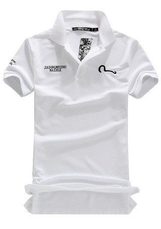 Youth Polo T-Shirt with Details - in White, Black and Grey