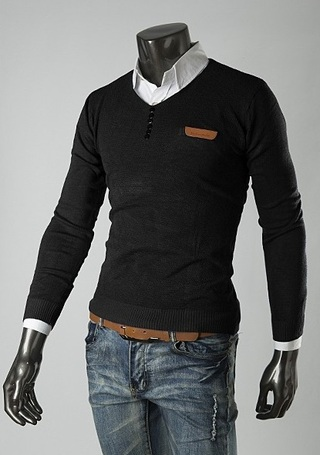 Sweater Casual con Detalles - Negro