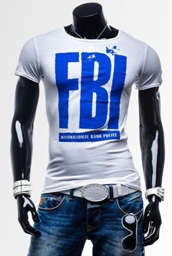 Camiseta Slim FIt Fashion - Diseño F.B.I. - en 7 Colores en internet