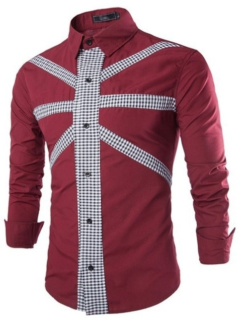 Camisa Casual Fashion Color Solido - Diseño Frontal Moderno a Cuadros - en 4 Colores - comprar online