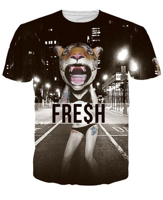 Camiseta 3D Juvenil Fashion - Creative Models - Fresh