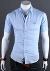 Casual Slim Fit Shirt Short Sleeve - Buttons with Details - in 5 Colors - buy online