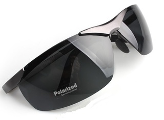 Male Polarized Sun Glasses - Gray Frame