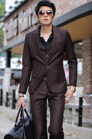 Suit Casual / Social - Pant and a Button Blazer - Wine