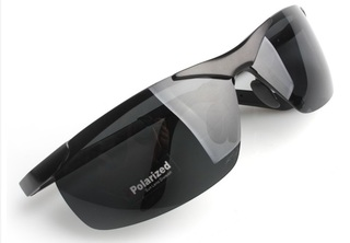 Male Polarized Sun Glasses - Black Frame